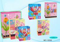 """Пакет бумажный подарочный """"Цветы"""" (в ассортименте; 31x44x12 см; арт. МС-3099)"""