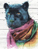 """Картина по номерам """"Чёрный ягуар"""" (400х500 мм)"""