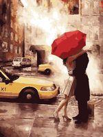 "Картина по номерам ""Прощание под дождем"" (400х500 мм)"