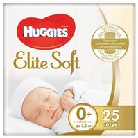 """Подгузники """"Elite Soft 0"""" (до 3,5 кг; 25 шт.)"""