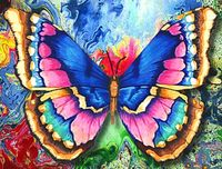 """Алмазная вышивка-мозаика """"Рисунок бабочки"""""""