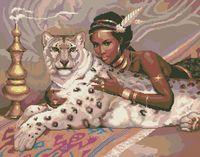 """Вышивка крестом """"Белый леопард"""""""