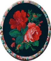 "Вышивка крестом ""Розы"" (120x150 мм)"