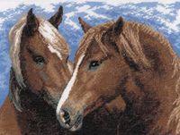 """Вышивка крестом """"Пара лошадей"""" (300x220 мм)"""