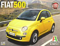 """Сборная модель """"Автомобиль Fiat 500 2007"""" (масштаб: 1/24)"""