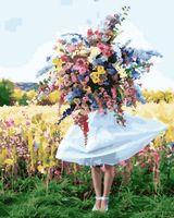 "Картина по номерам ""Девушка с букетом"" (400х500 мм)"