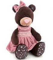 """Мягкая игрушка """"Медведь Milk в розовом бархатном платье"""" (30 см)"""