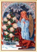 """Вышивка бисером """"Рождественский ангел"""" (250х350 мм)"""