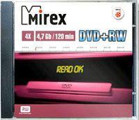 Диск DVD+RW 4.7Gb 4x Mirex slim