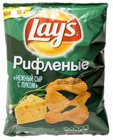 """Чипсы картофельные рифленые """"Lay's. Нежный сыр с луком"""" (80 г)"""