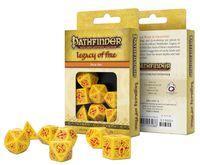 """Набор кубиков """"Pathfinder. Legacy of Fire"""" (7 шт.; желто-красный)"""