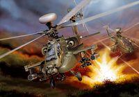 """Ударный вертолет """"AH-64D Apache Longbow"""" (масштаб: 1/48)"""