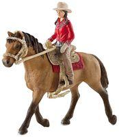 """Фигурка """"Всадница на лошади"""" (15 см)"""