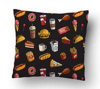 "Подушка маленькая ""Fast food"" (арт. 6; 15х15 см)"