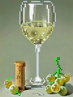 """Вышивка бисером """"Виноградное вино"""""""
