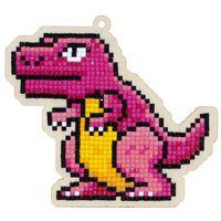 "Алмазная вышивка-мозаика ""Брелок. Динозавр Рекс"" (115х104 мм)"