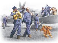 """Набор миниатюр """"Пилоты и техники ВВС Великобритании 1939-45г."""" (масштаб: 1/48)"""
