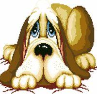 """Алмазная вышивка-мозаика """"Сонный пес"""""""