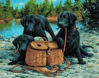"""Картина по номерам """"Лабрадоры на охоте"""" (400х500 мм)"""