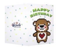 "Алмазная вышивка-мозаика ""Открытка. Happy Birthday"" (100х140 мм)"