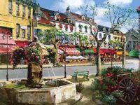 "Картина по номерам ""Европейский городок"" (400х500 мм)"