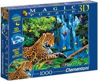 """3D Пазл """"Говард Робинсон. Ягуар в джунглях"""" (1000 элементов)"""