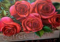 """Алмазная вышивка-мозаика """"Прекрасные розы"""" (500х350 мм)"""