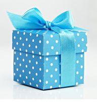 """Подарочные коробочки """"Голубые с бантиком"""" (10 шт.)"""