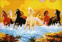 "Картина по номерам ""Стадо лошадей"" (500x800 мм; арт. MJ004)"