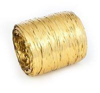 Рафия декоративная (10 м; металлизированное золото)