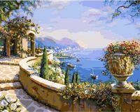 """Картина по номерам """"Греческое побережье"""" (400х500 мм)"""
