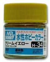 Краска Aqueous Hobby Color водоразбавляемая (gream yellow, H-34)