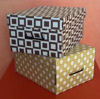 Набор коробок (2 шт.; горчичная и темно-коричневая)