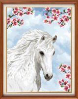 """Вышивка крестом """"Прекрасная лошадь"""" (280х370 мм)"""