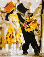 """Картина по номерам """"Жених и невеста"""" (300x400 мм; арт. ME100)"""