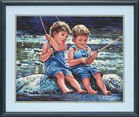 """Картина по номерам """"Мальчики-рыбаки"""" (410х510 мм)"""