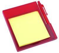 Подставка на магните с бумажным блоком и ручкой (красная)