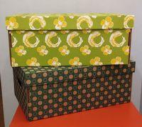 Набор коробок (2 шт.; салатовая и темно-зеленая)