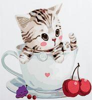 "Картина по номерам ""Котенок в чашке №3"" (300х300 мм; арт. PC3030003)"