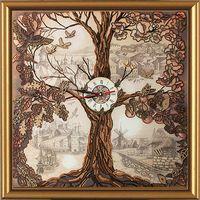 """Набор для вышивания """"Дерево-часы"""" (с часовым механизмом)"""