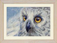 """Вышивка крестом """"Полярная сова"""" (250х150 мм)"""